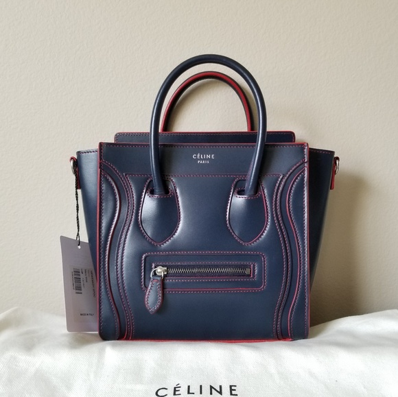 f5ce406a7 Celine Bags | Brand New Nano Navy With Red Trim | Poshmark